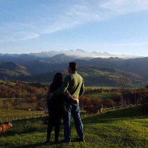 Mirando a los Picos de Europa