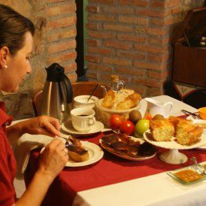 Desayunando en Heredad de La Cueste